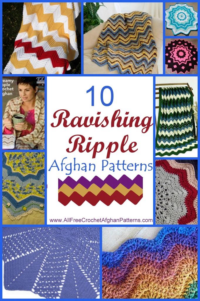 10 Ravishing Ripple Afghan Patterns