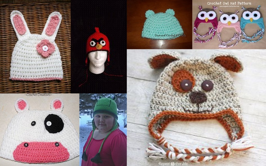 Crochet Baby Beanie Animal Pattern Legitefo For