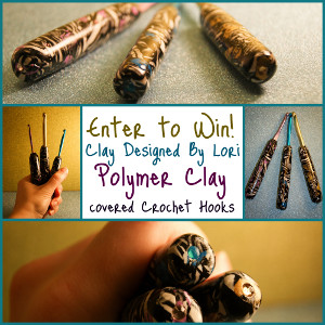 Lori Crochet Hooks smaller New Giveaway! Polymer Clay Covered Crochet Hooks