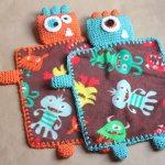 Monster Fleece and Crocheted Blanket