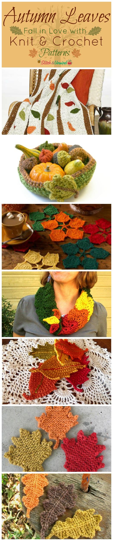 Autumn Leaves Crochet Pattern Autumn Leaves Knit Crochet
