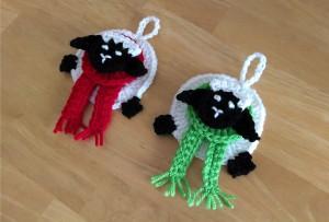 Festive Sheep Ornament