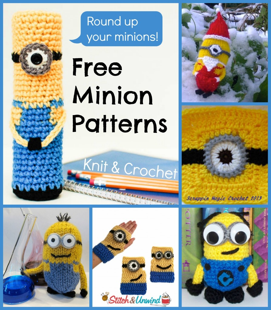 Free Crochet Batman Minion Pattern : Despicable Me: 6 Free Minion Patterns - Stitch and Unwind