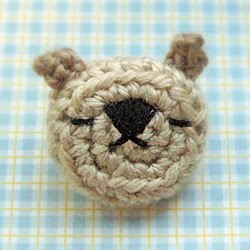 Amigurumi Bear Pin