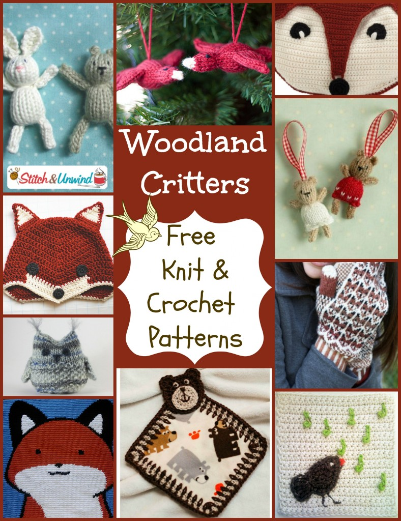 woodland critters knit crochet patterns 788x1024 Crazy Like A Fox: Go Nuts for Free Woodland Critter Patterns