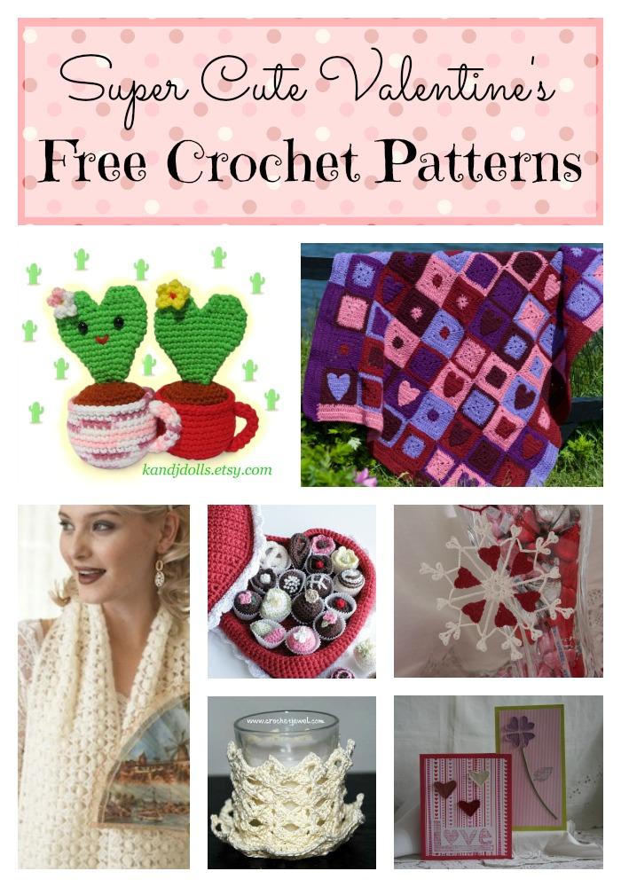 Valentine s Day Crochet Patterns : 8 Super Cute Valentines Day Crochet Patterns - Stitch and ...