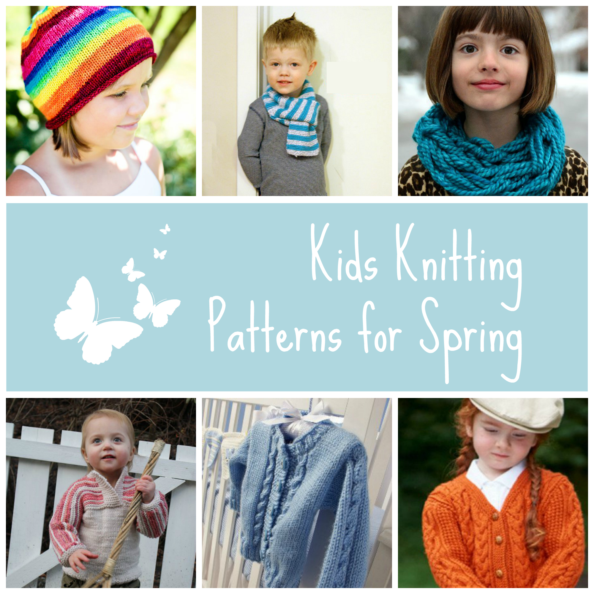 Kids Knitting Patterns for Spring
