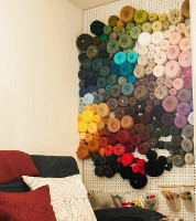 DIY Vertical Yarn Storage