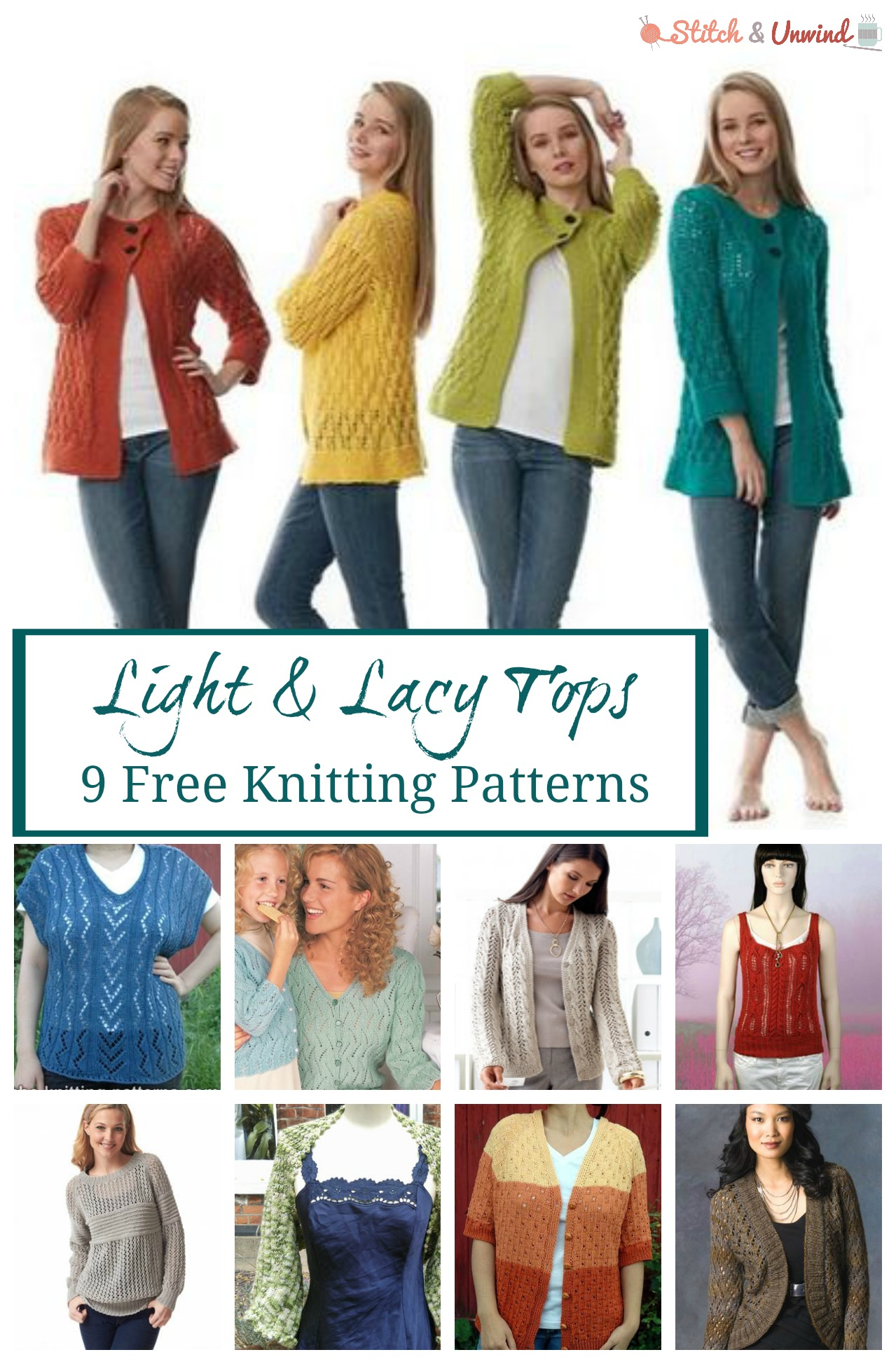 Light & Lacy Tops: 9 Lovely Free Knitting Patterns for Spring ...
