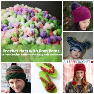 Crochet-Hats-with-Pom-Poms