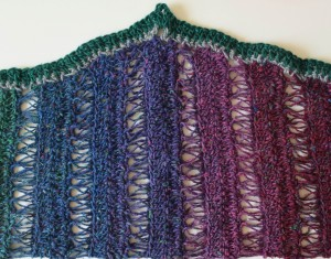 Peacock Stitch Shawlette free crochet pattern by Marie Segares 6