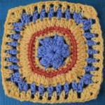 Colorful Granny Square, free crochet pattern by Marie Segares