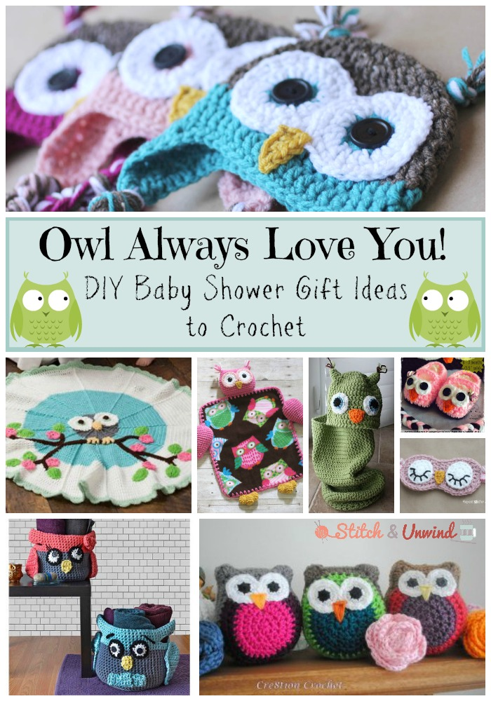 Baby Gift Ideas To Make At Home : Owl always love you diy baby shower gift ideas stitch