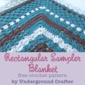 Rectangular Sampler Blanket free crochet pattern by Marie Segares