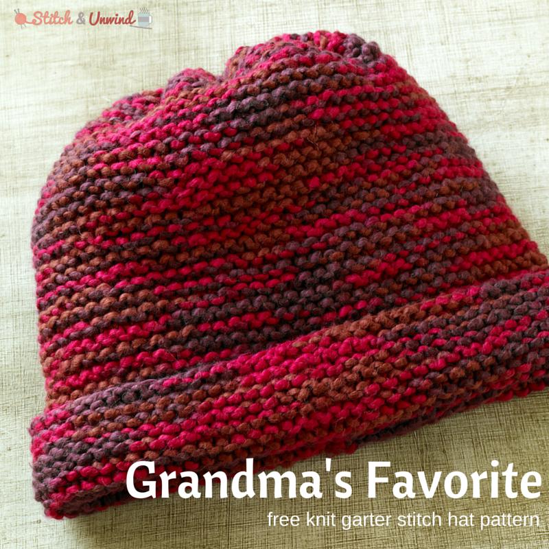 Knitting On The Net Stitches : Grandma s favorite knit garter stitch hat pattern