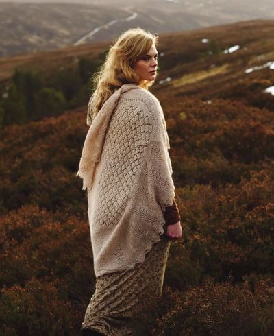 Among the Moorlands Knit Shawl