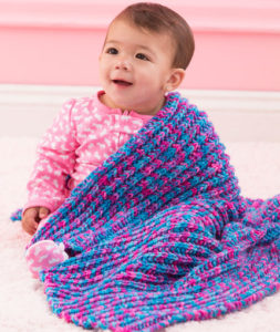 Speedy One-Row Baby Blanket
