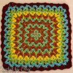 Bargello Crochet Afghan Block