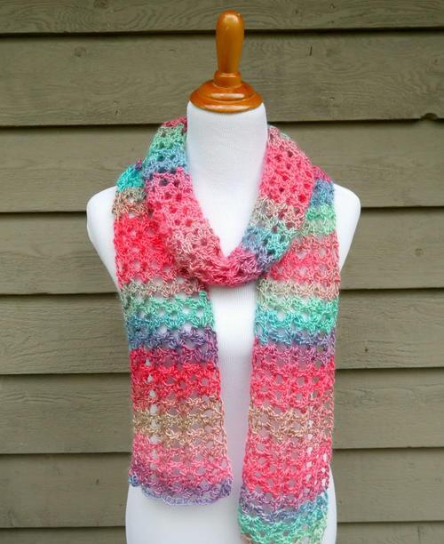 Island Lace Crochet Scarf