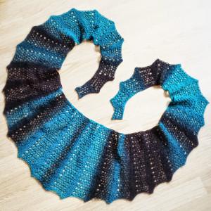 Mediterranean Island Lace Knit Scarf