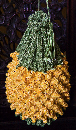 Tropical Pineapple Knitted Bag