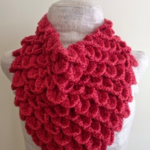 Coral Crocodile Stitch Cowl