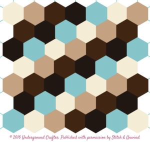 Free crochet pattern: Hexagon Honeycomb Stroller Blanket by Underground Crafter for Stitch and Unwind