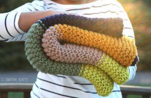 Cozy Colors Garter Stitch Blanket