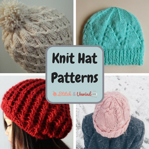Knit Hat Patterns for the Whole Family