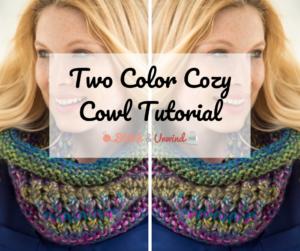 Two Color Cozy Cowl Tutorial