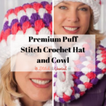 Premium Puff Stitch Crochet Hat and Cowl