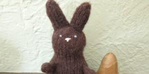 Calorie Free Chocolate Bunny free knitting pattern