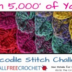 The Crochet Crowd & AllFreeCrochet's Crocodile Stitch Challenge