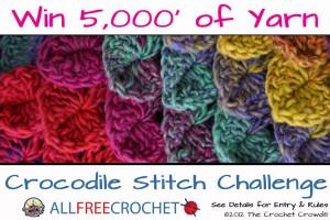 The Crochet Crowd & AllFreeCrochet's Crocodile Stitch Challenge