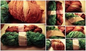 Recycled Silk Sari Ribbon Yarn