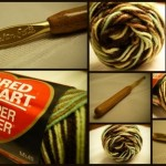 Red Heart Super Saver Yarn and Susan Bates Crochet Hook