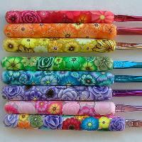 Beautiful Polymer Clay Crochet Handles