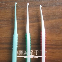 Crochet Hooks Made from Toothbrushes