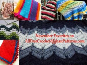 November Favorites on AllFreeCrochetAfghanPatterns