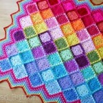 Happy Harlequin Crochet Afghan