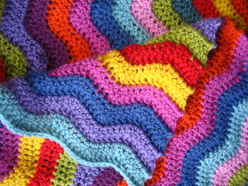 Newly Updated Collection Colorful Ripple Patterns Stitch And Unwind