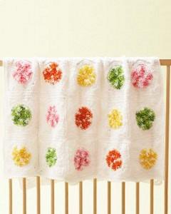 Candy Swirls Baby Blanket by Bernat