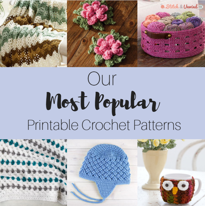 Our Most Popular Printable Crochet Patterns