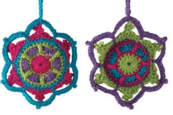 Jewel Tone Crochet Snowflake