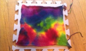 How to tie-dye your knit projects