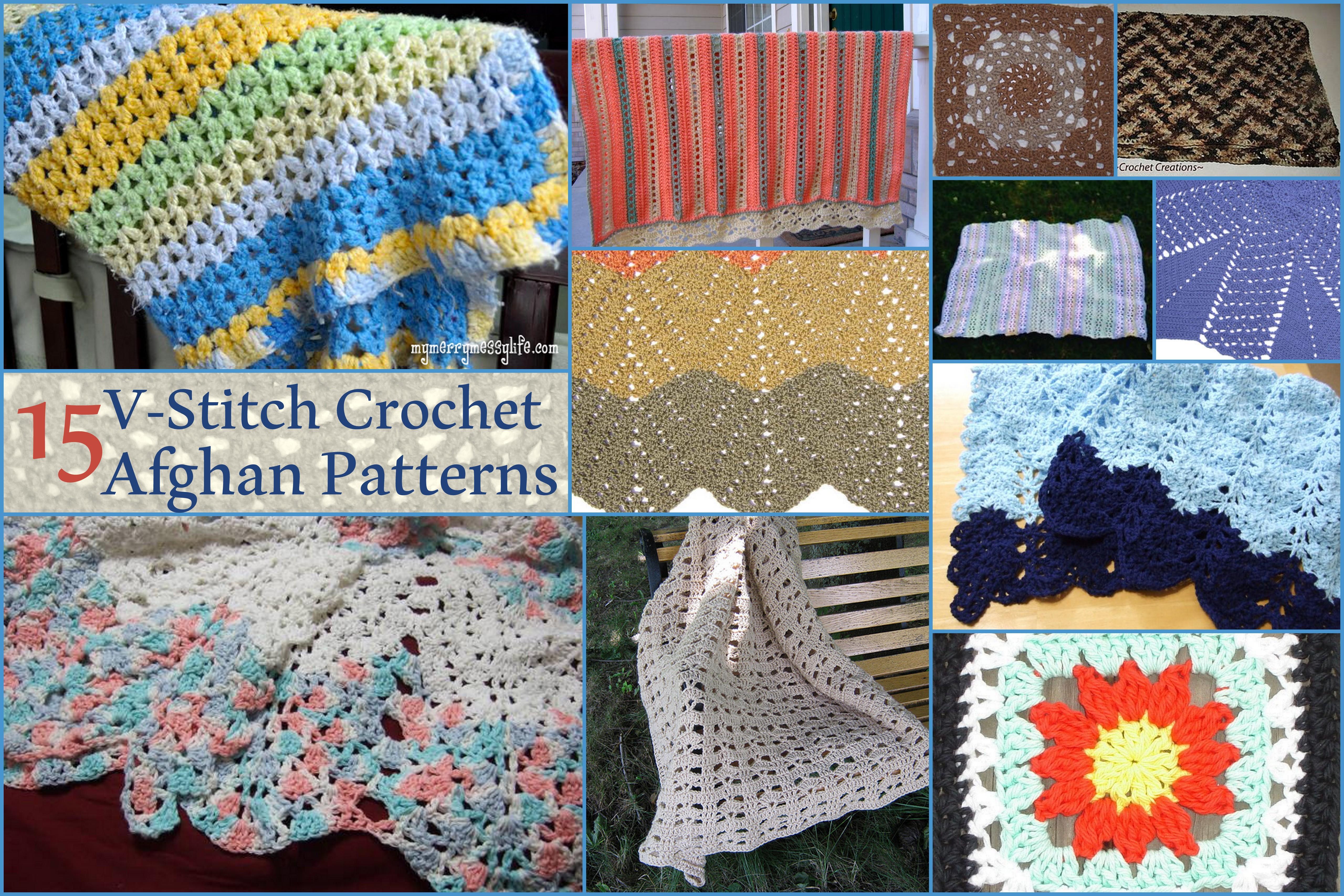 Victorious V-Stitch Crochet Patterns - Stitch and Unwind
