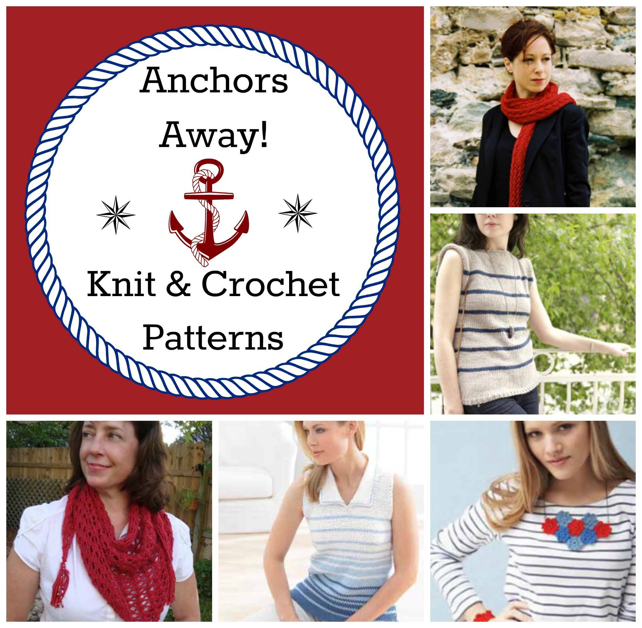 Anchors Away! 25 Nautical Patterns for All - Stitch and Unwind