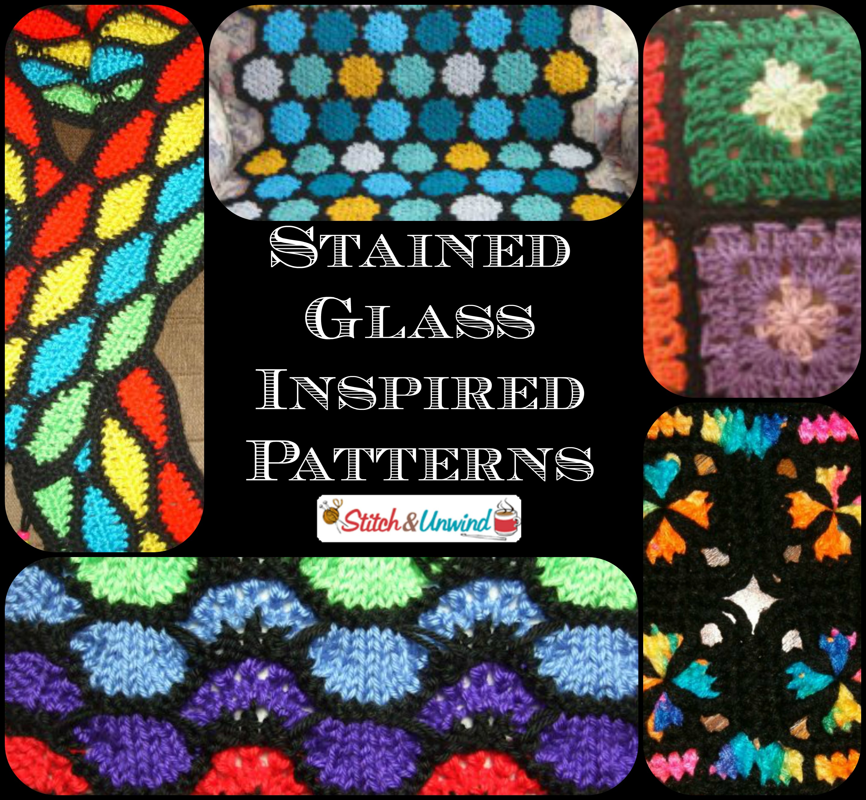 Stained Glass Inspired Patterns - Stitch and Unwind