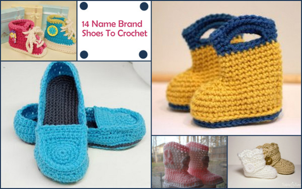 14 Jaw Dropping Name Brand Shoes You Can Crochet Stitch And Unwind