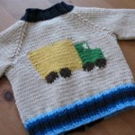 Tiny Truck Baby Sweater